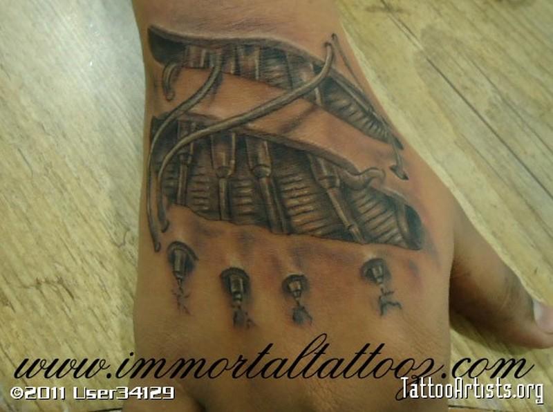 3d biomechanical tattoo for hand tattoos book for Biomechanical hand tattoo designs