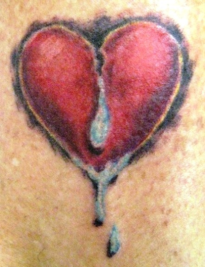 3d broken heart with tears tattoo design tattoos book tattoos designs. Black Bedroom Furniture Sets. Home Design Ideas