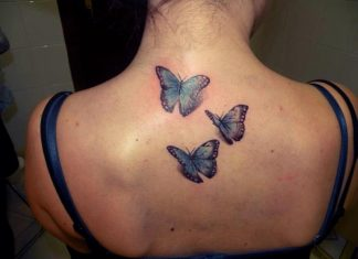 3d-butterflies-tattoo-on-upper-back