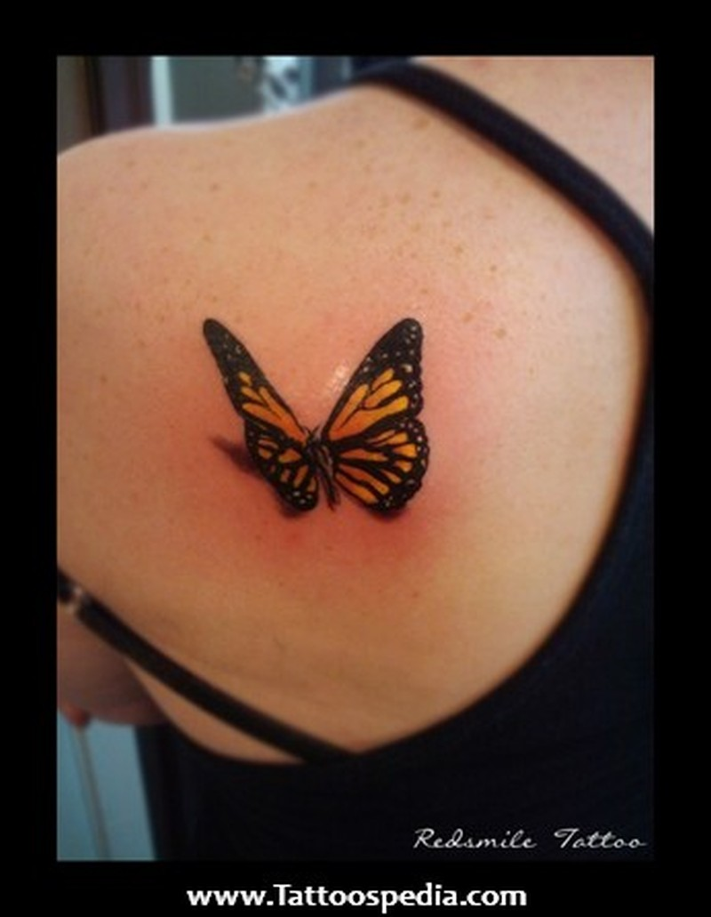 abe45393b 3d butterfly tattoo design on back shoulder - Tattoos Book - 65.000 ...