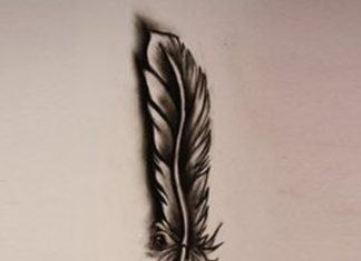 3d-dark-feather-tattoo-design