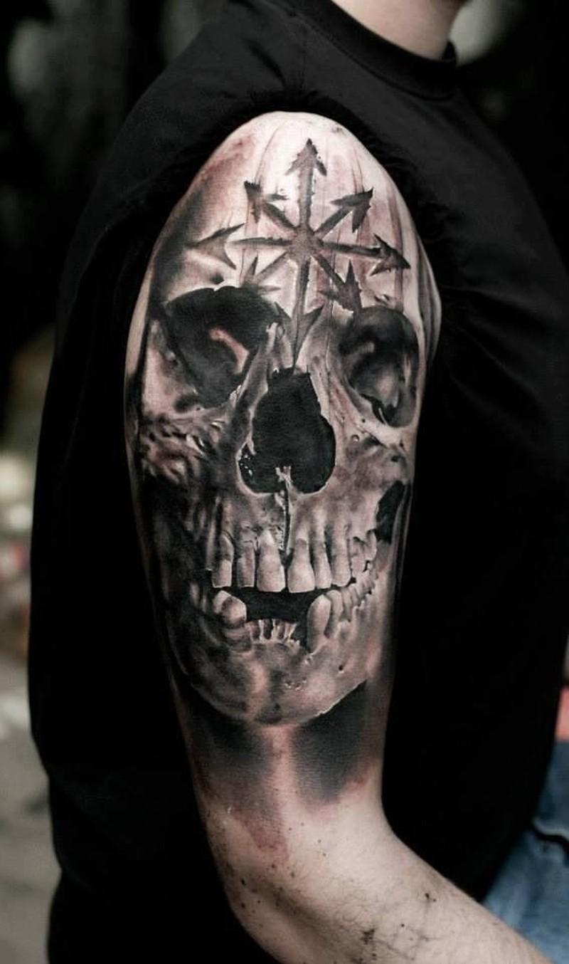 Фото татуировок в виде черепов