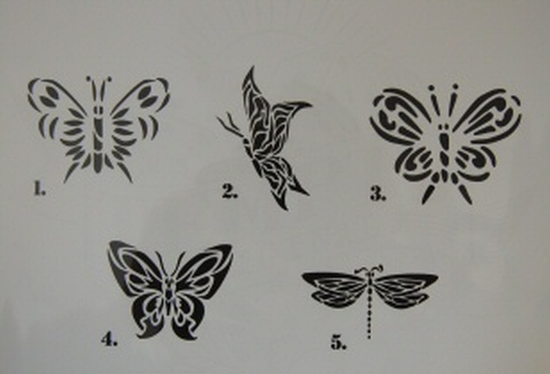 5 butterflies tattoo designs