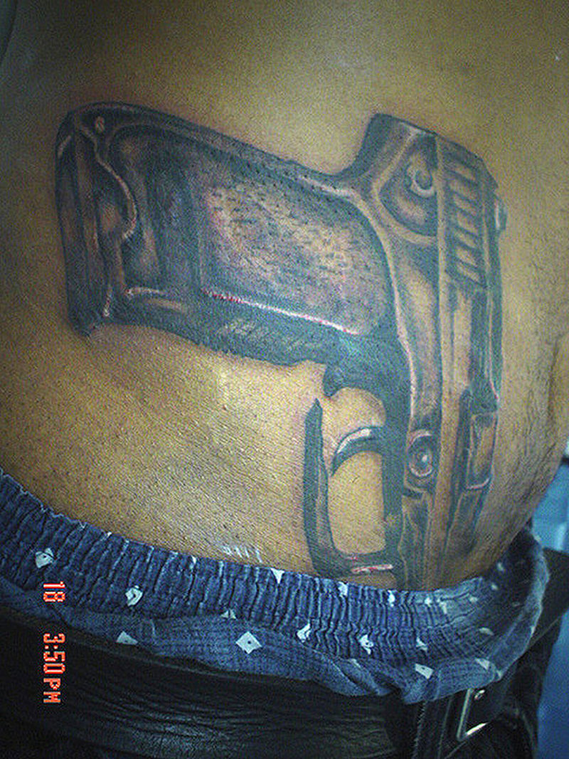 9mm gun tattoo design tattoos book. Black Bedroom Furniture Sets. Home Design Ideas