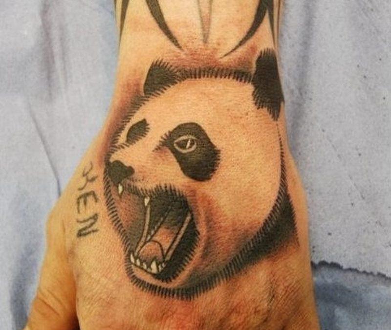 Aggressive Panda Tattoo