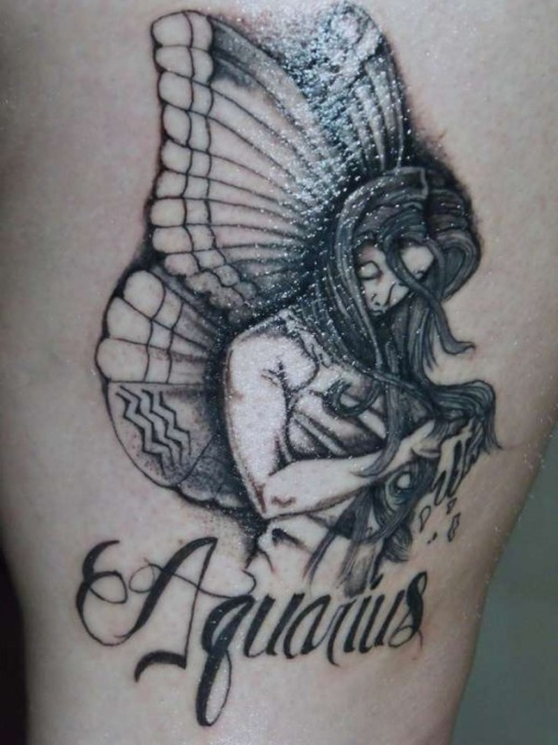 aquarius zodiac tattoos for men tattoos book 65000