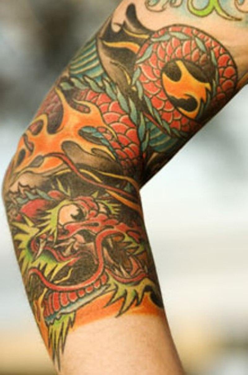 Китайское тату на предплечье