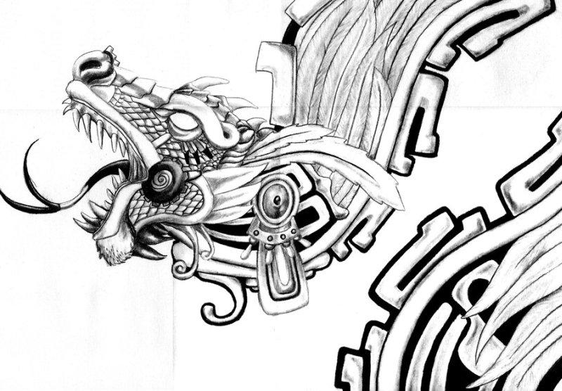 Aztec Art Tattoos Drawingsn
