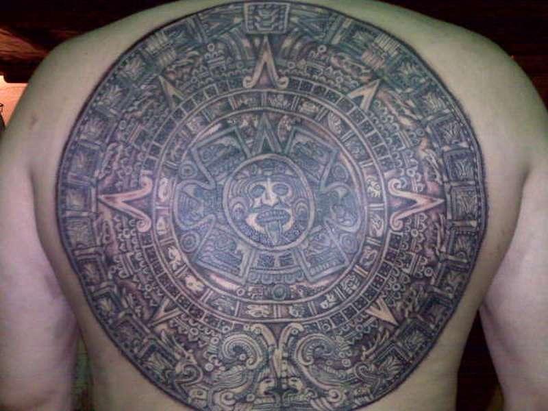 Aztec Calendar Tattoo 2 2