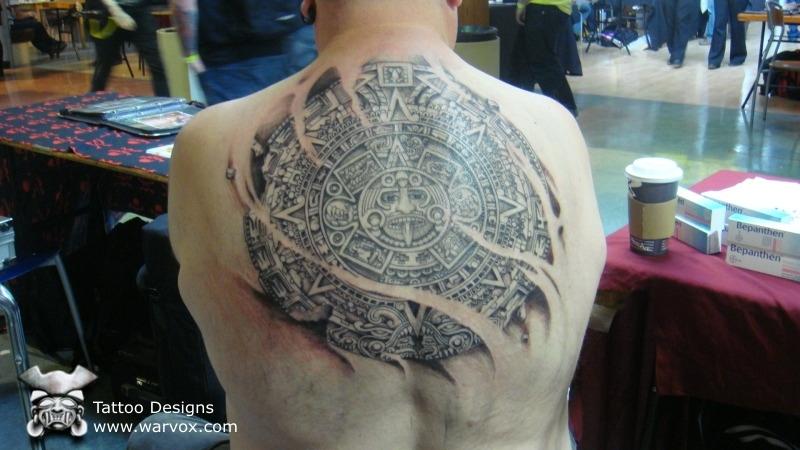 Aztec Calendar Tattoo Design 2
