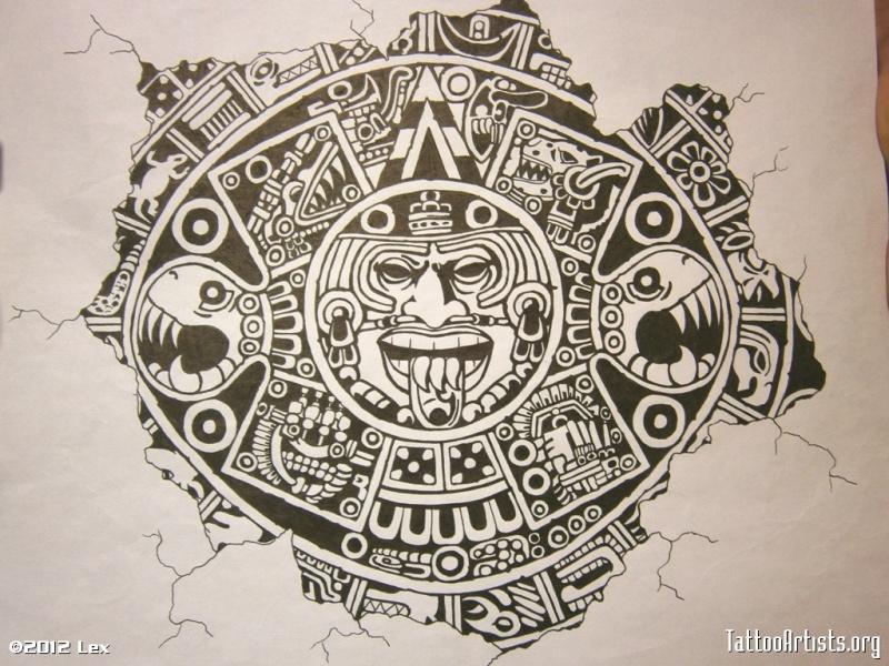 Aztec Calendar Tattoo Designs Free
