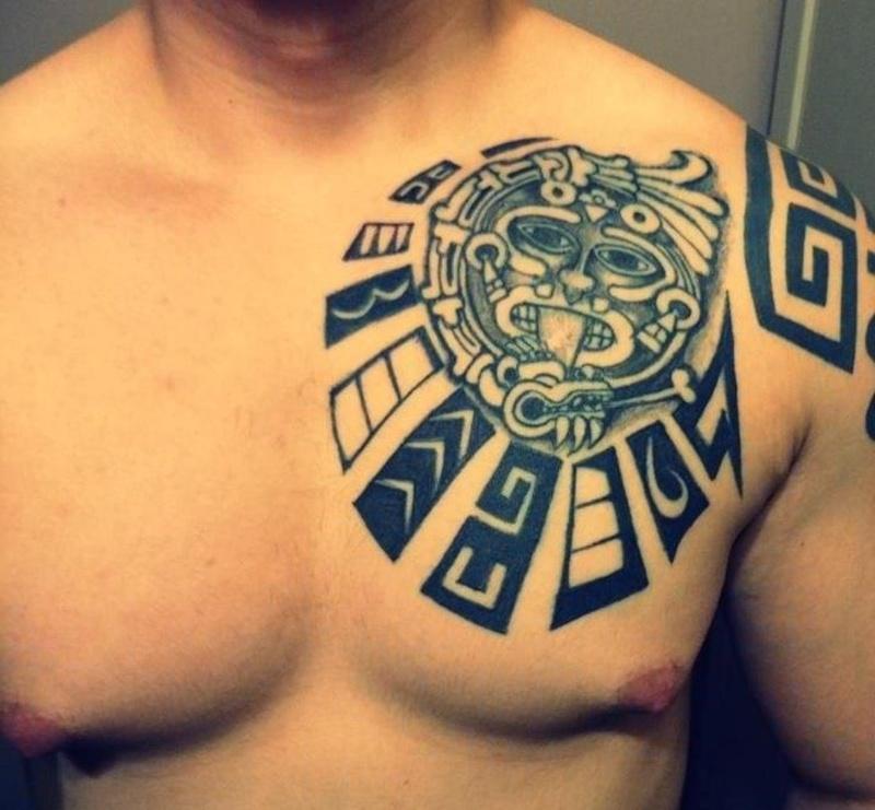7f67144ffb51b Aztec Chest Plate Tattoos1 - Tattoos Book - 65.000 Tattoos Designs