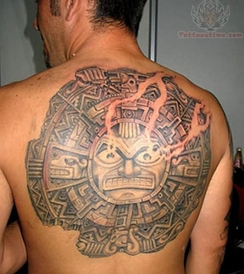 Aztec Sun Tattoo 2
