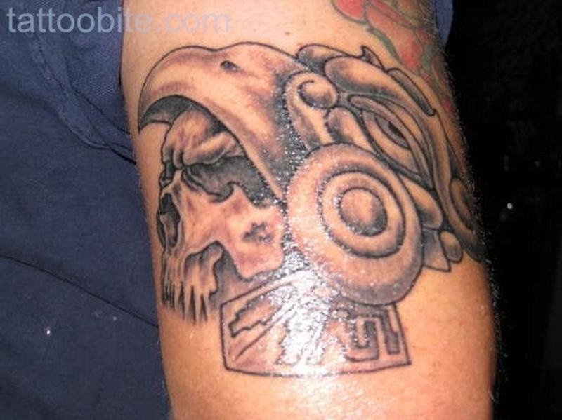 Aztec Tattoo Designs on Arm