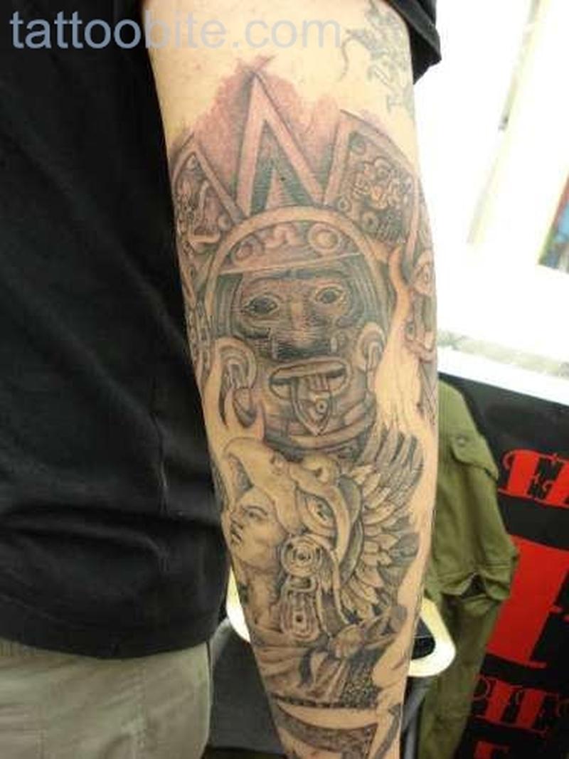 Aztec Tattoos on Arm. 2 3