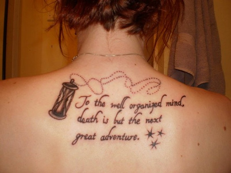 Back Quote For Women tattoo - Tattoos Book - 65.000 Tattoos ...