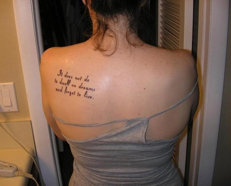 Back Shoulder Tattoos Quotes - Tattoos Book - 65.000 Tattoos ...