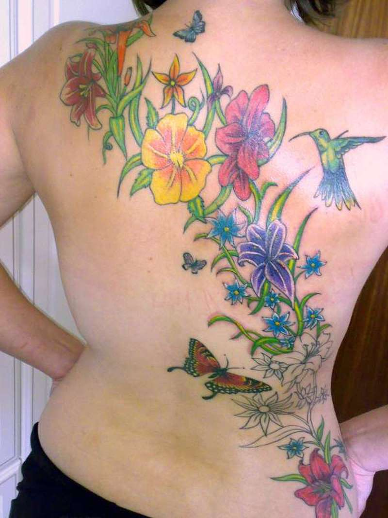 3f0be19d97bbd Beautiful Small Tattoos For Women Flower Back Tattoo Design For Women 2011