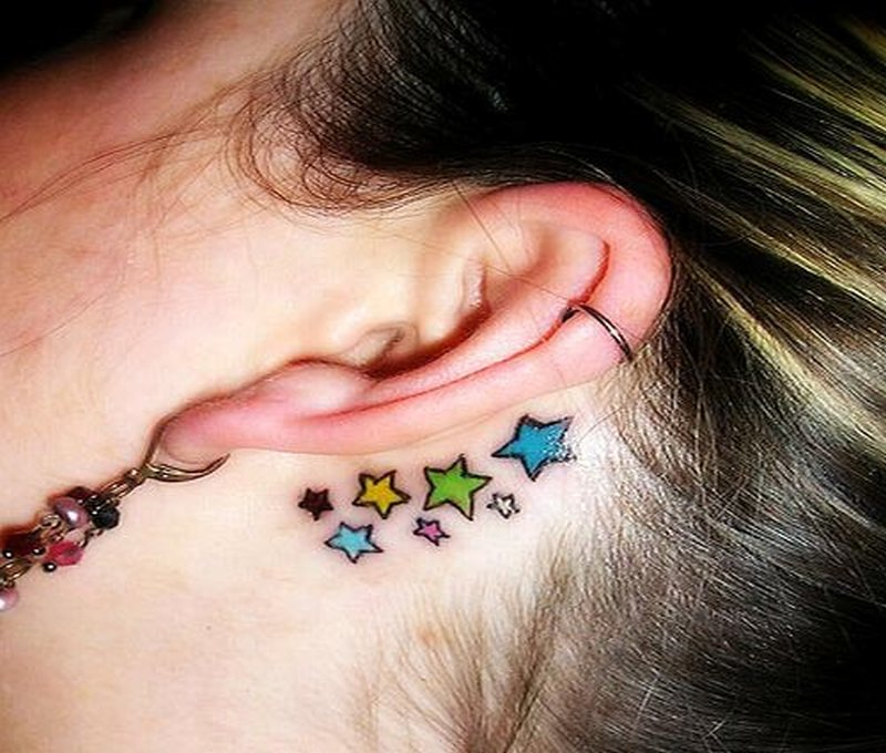 Behind The Ear Tattoos Pictures