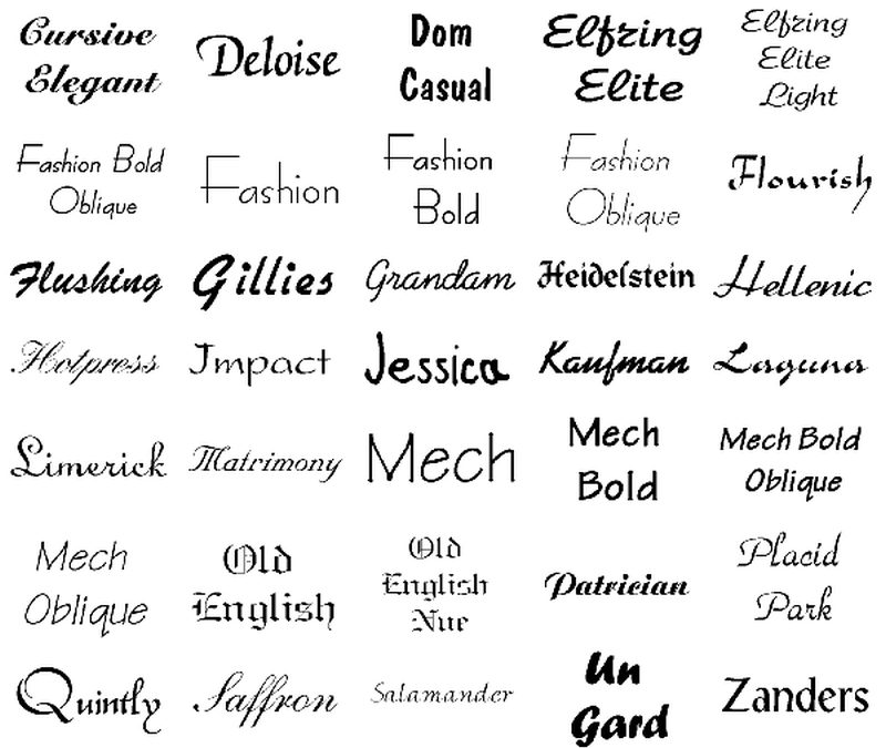 Best Fonts For Tattoos