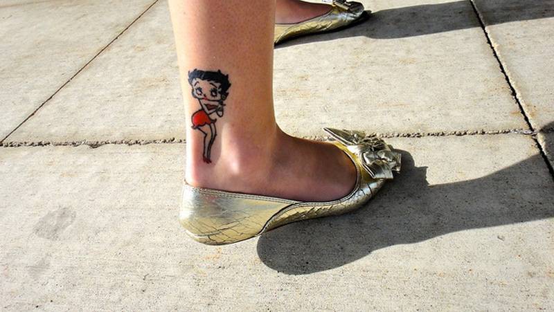 Betty Boop Tattoos On Foot1