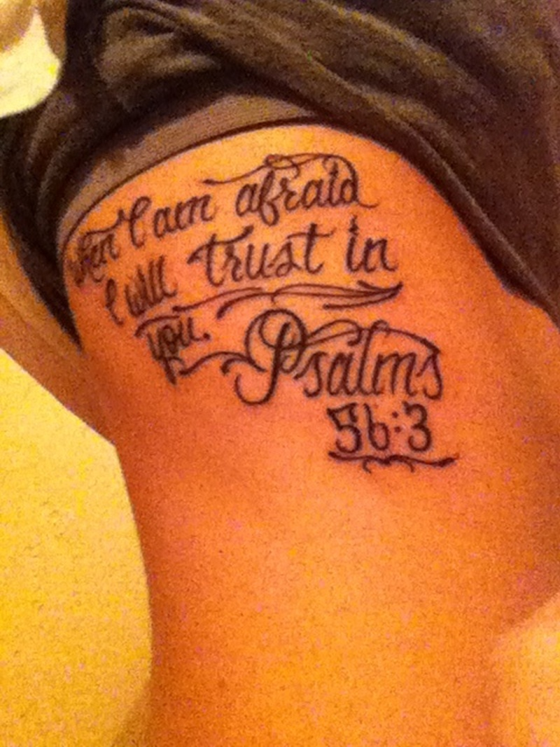 Bible Scripture Tattoos On Ribs