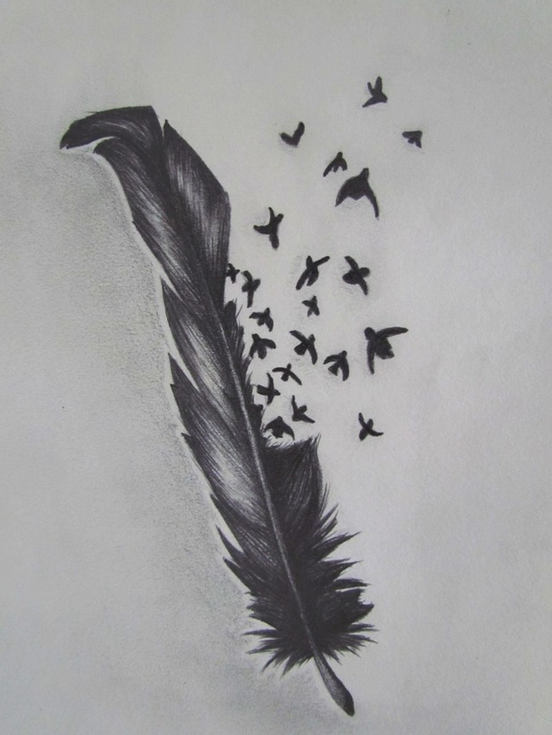 Birds Of A Feather Tattoo Sketch 2