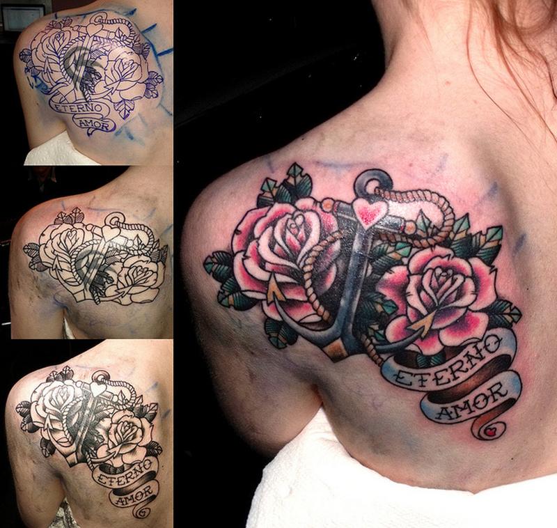 Black Anchor Tattoo Sheffield