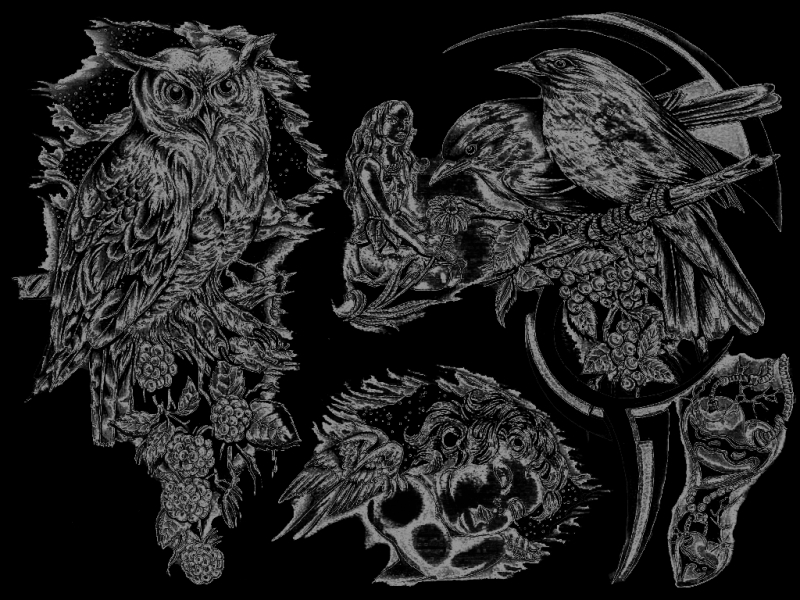 Black And White Flash Art Tattoos