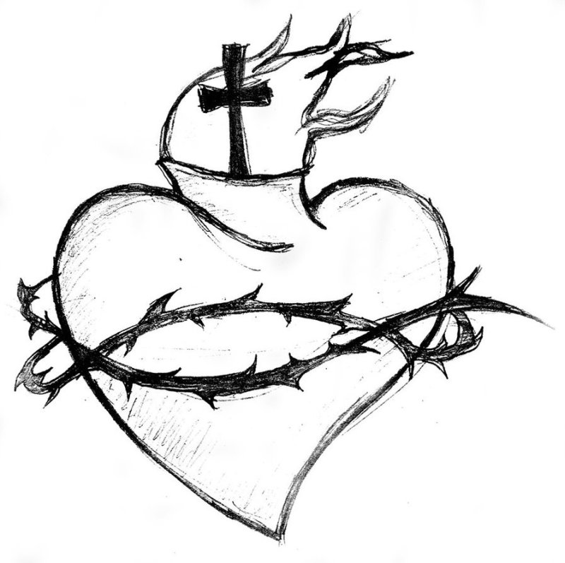 Black And White Heart Tattoos Designs