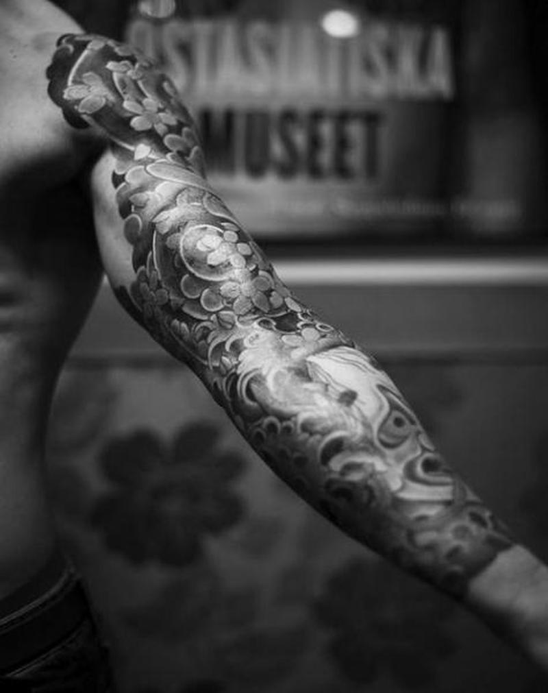 Black And White Sleeve Tattoos Ideas