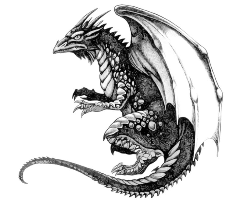 Black And White Tattoo Designs Dragon