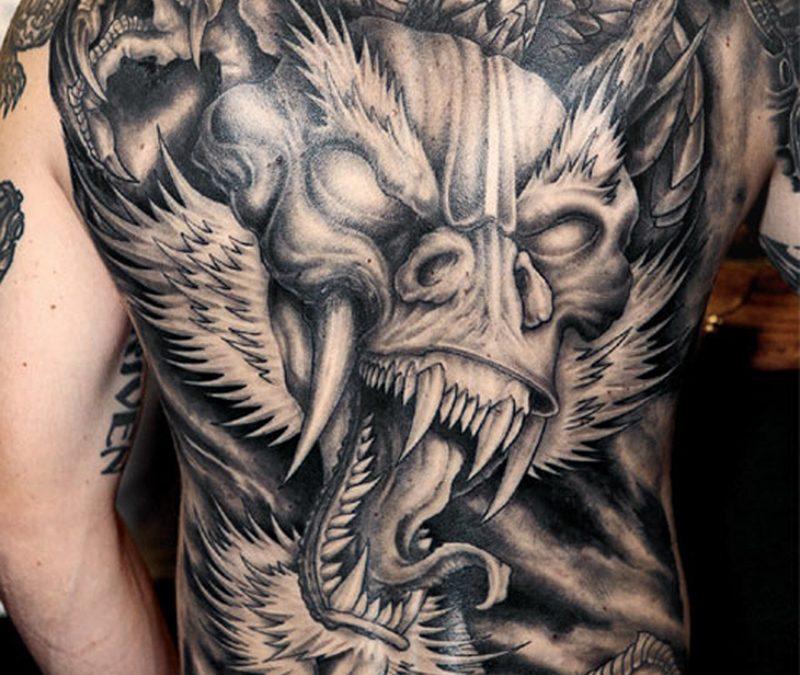 Black Dragon Tattoo Images