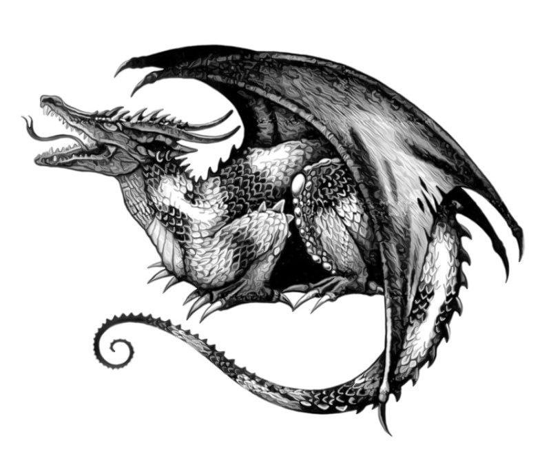 Black Dragon Tattoos Designs