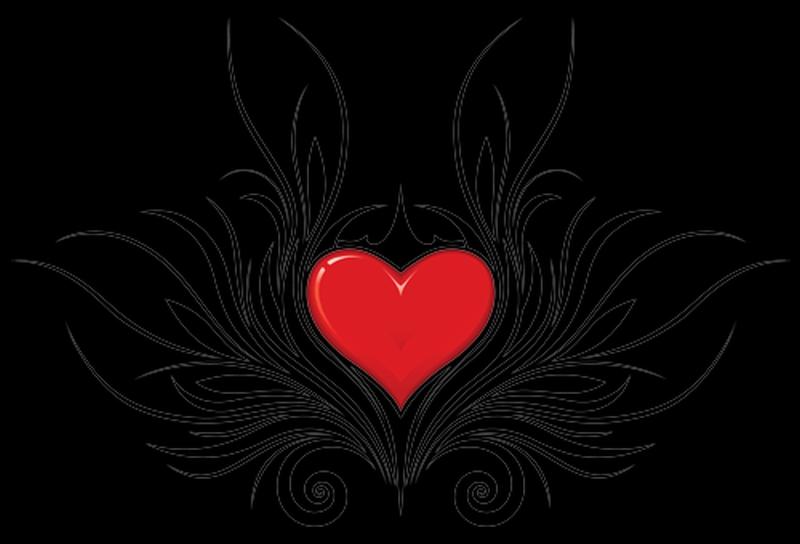 Black Heart Tattoo Tribal
