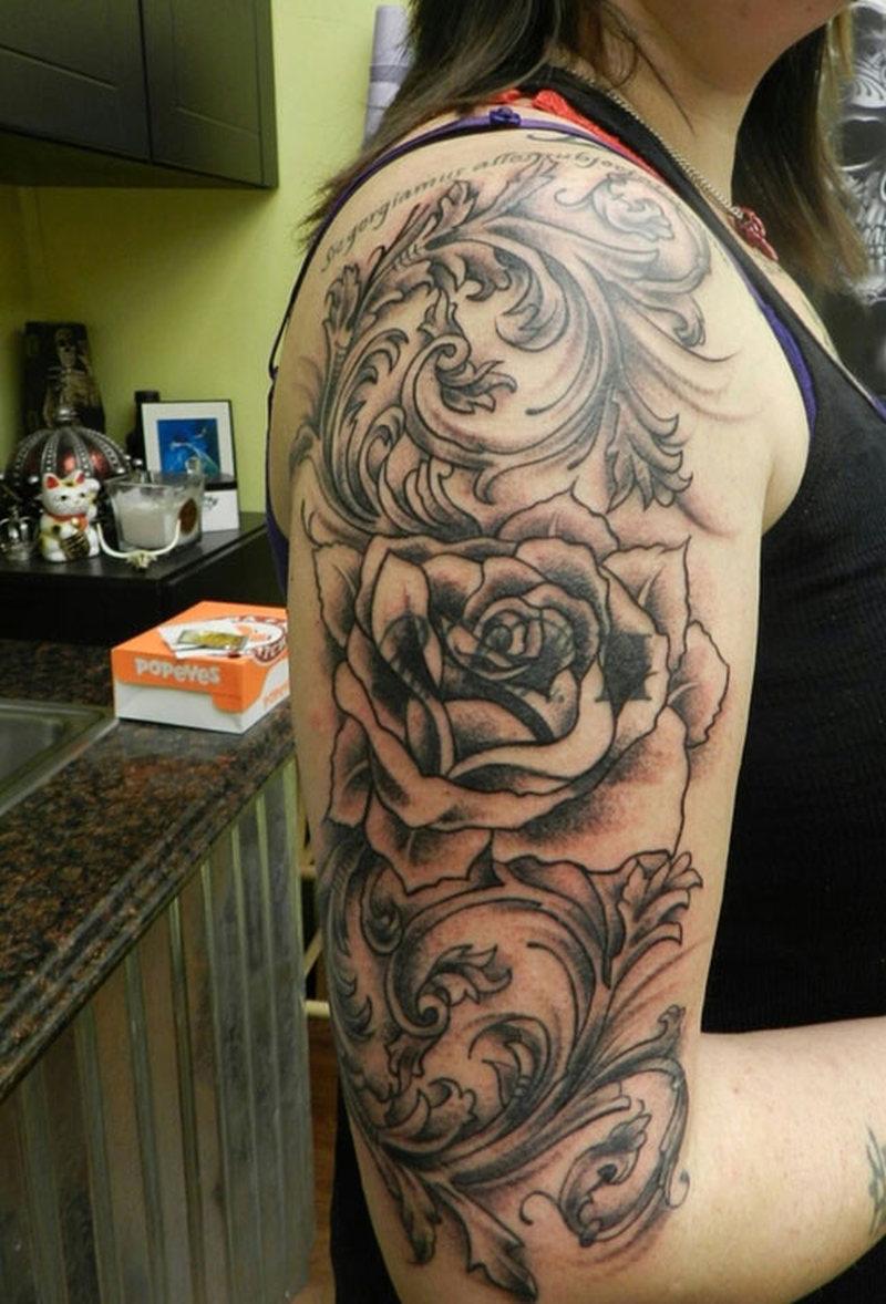 Black Sleeve Tattoo For Women