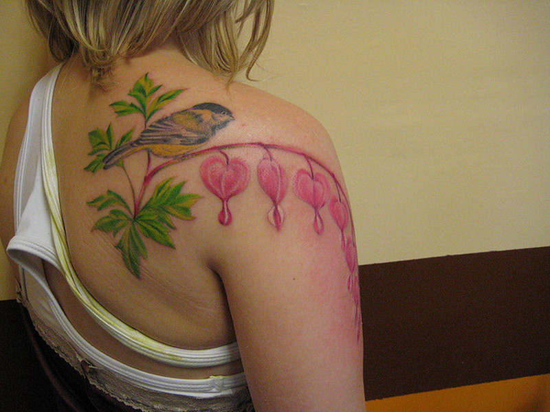 Bleeding Heart Flower Tattoo Pictures