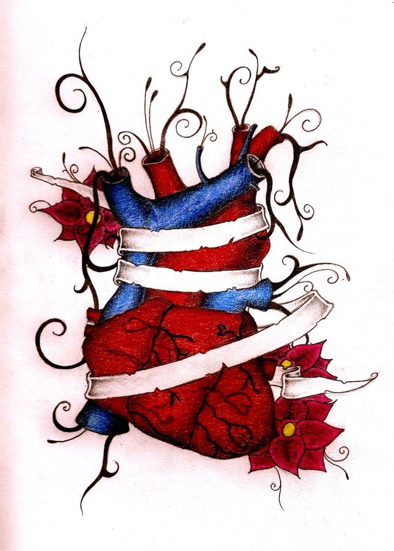 Bleeding Heart Tattoo Designs