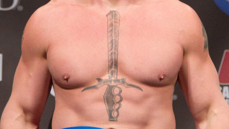 Brock Lesnar Tattoo Sword