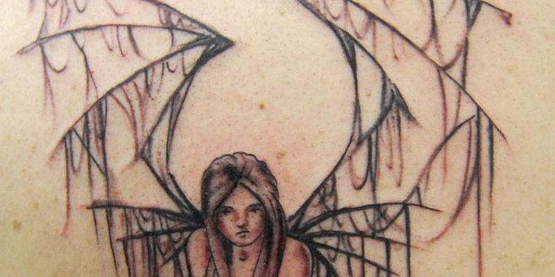 Broken Angel Wings Tattoos