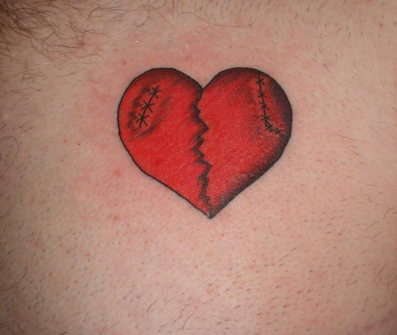 Broken Heart Tattoo Designs1