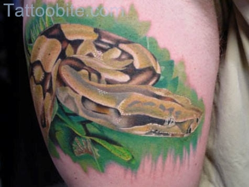 Brown Snake Tattoo