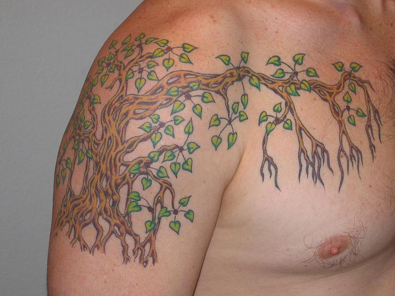 Buddha Bodhi Tree Tattoo