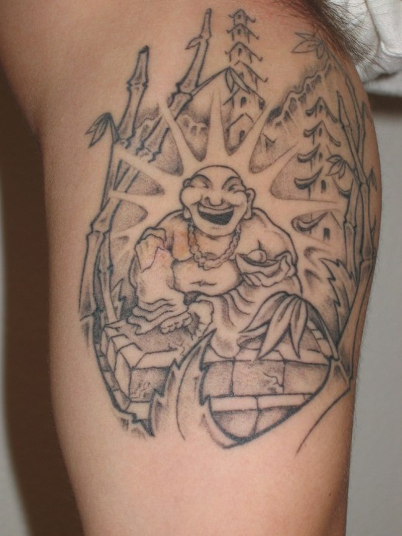 d8dc9694c8305 Buddha girl tattoo