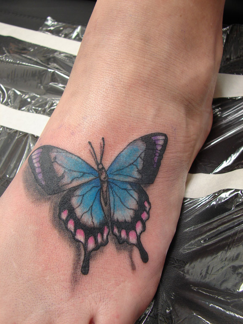 Butterfly Tattoos Designs On Foot