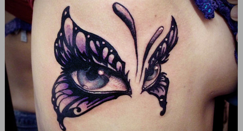 Butterfly With Eyes Tattoos