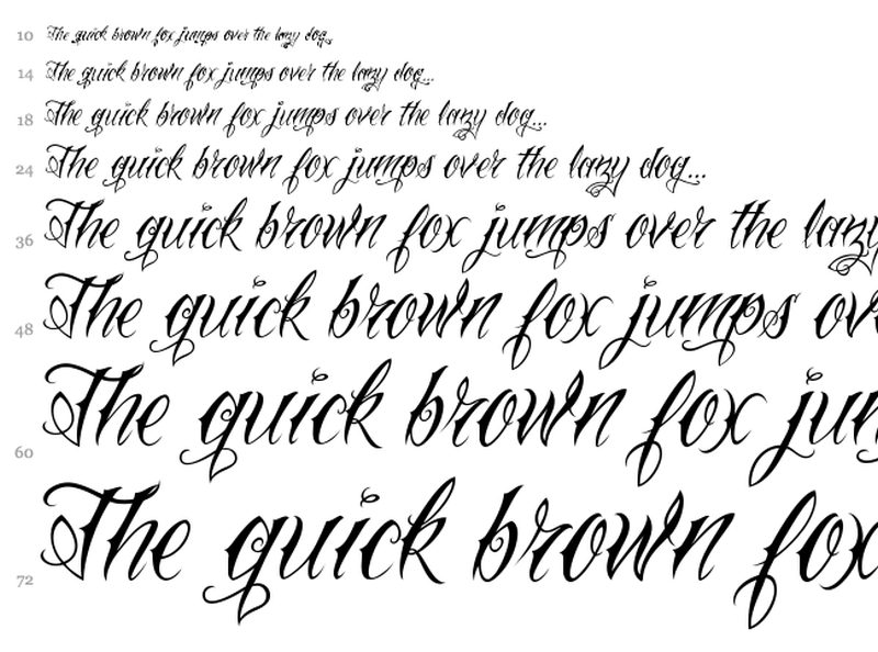 Calligraphy Fonts For Tattoos In Scriptf