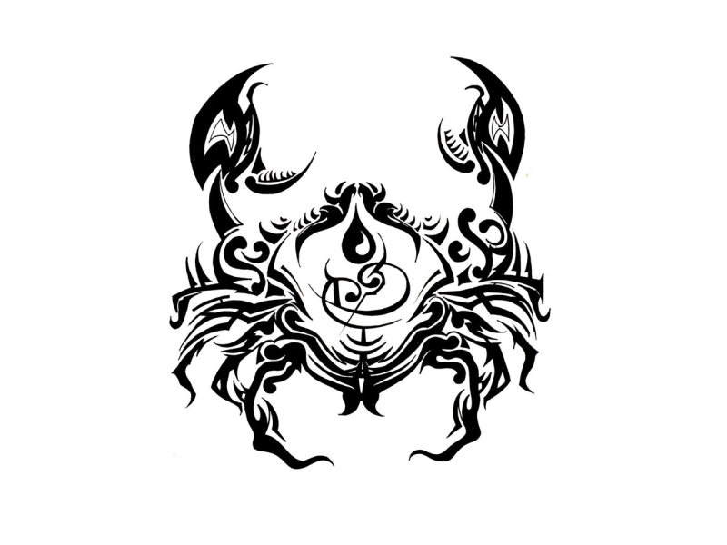 Cancer Sign Tattoo Tribal