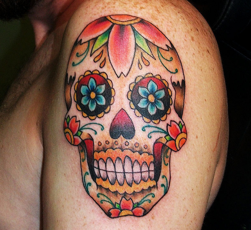 Candy Skull Tattoo