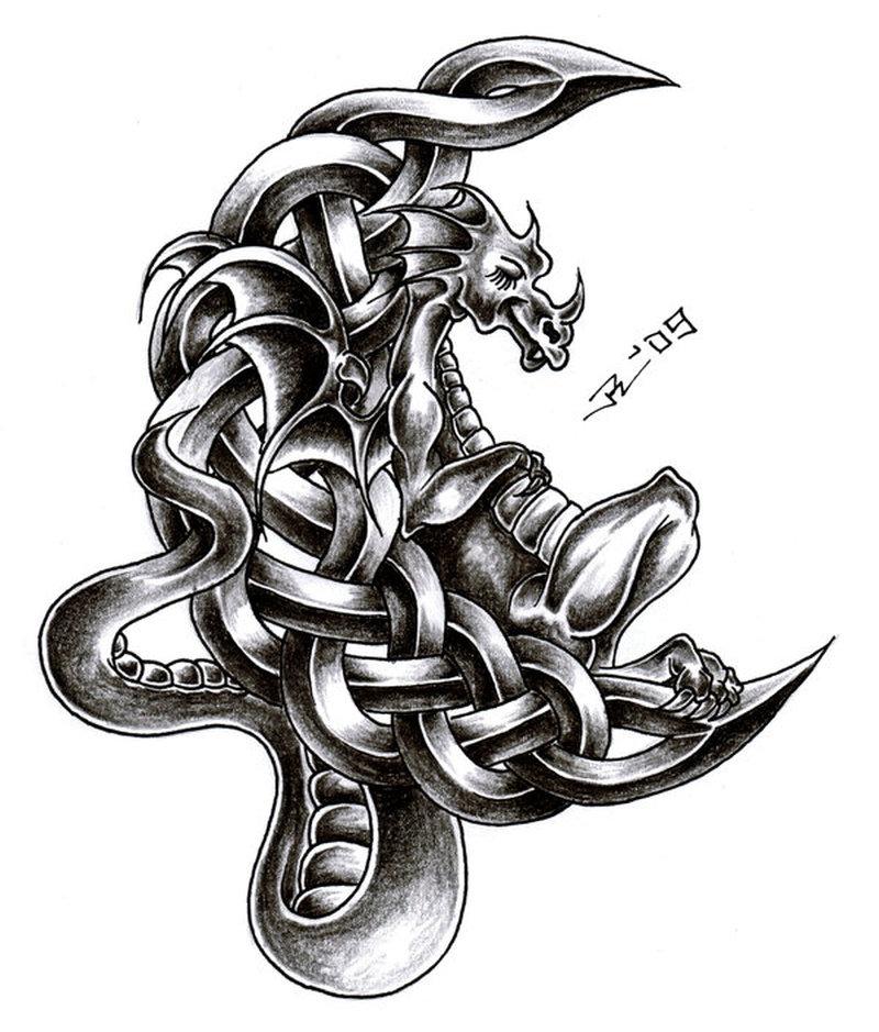 Celtic Dragon Tattoos Designs
